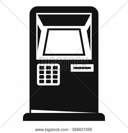 Bank Card Atm Icon. Simple Illustration Of Bank Card Atm Vector Icon For Web Design Isolated On Whit