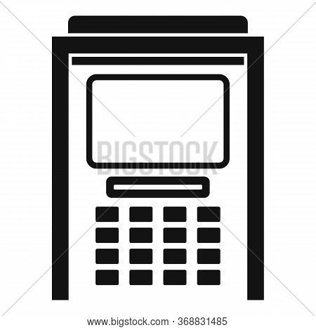 Atm Cash Debit Icon. Simple Illustration Of Atm Cash Debit Vector Icon For Web Design Isolated On Wh