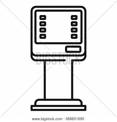 Money Atm Icon. Outline Money Atm Vector Icon For Web Design Isolated On White Background