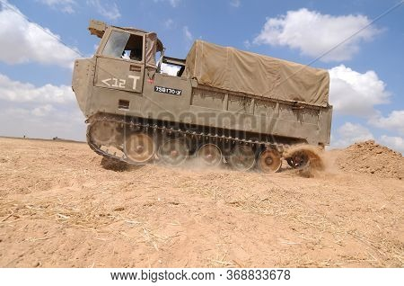 Heavy Bomb Carrier Next To The Gaza Border