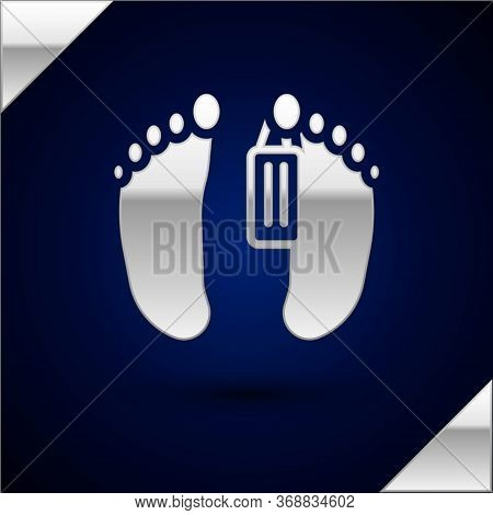 Silver Dead Body With An Identity Tag Attached In The Feet In A Morgue Of A Hospital Icon Isolated O