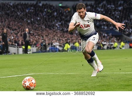 London, England - April 30, 2019: Jan Vertonghen Of Tottenham Pictured During The First Leg Of The 2