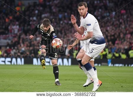 London, England - April 30, 2019: Lasse Schone Of Ajax Pictured During The First Leg Of The 2018/19