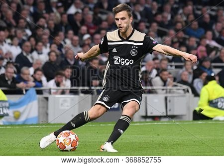 London, England - April 30, 2019: Joel Veltman Of Ajax Pictured During The First Leg Of The 2018/19