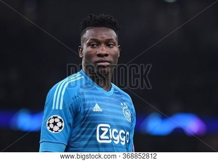 London, England - April 30, 2019: Andre Onana Of Ajax Pictured During The First Leg Of The 2018/19 U