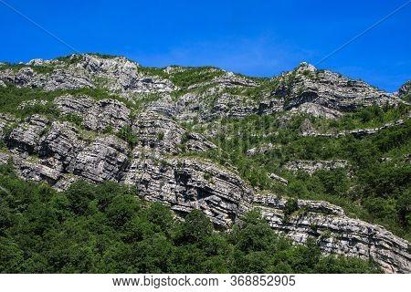 Dinaric Alps Or Dinarides Mountain Range In Bosnia And Herzegovina, Along The River Neretva