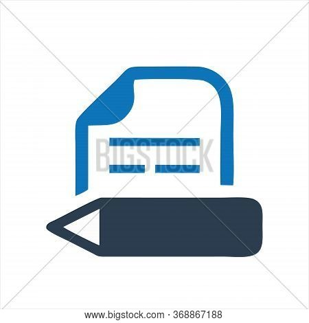 Writing Icon Isolated On White Background. Writing Icon In Trendy Design Style. Writing Vector Icon