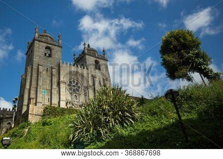 The Porto Cathedral (Se do Porto) in Porto, Portugal.