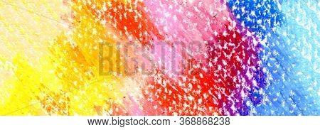 Oil pastel blot painting. Canvas texture horizontal background.