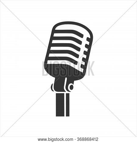 Microphone Icon Isolated On White Background From Event Collection. Microphone Icon Trendy And Moder