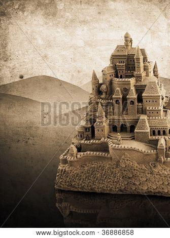 Large Retro Sandcastle