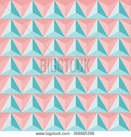Pattern Triangular Colored Vintage. Geometric Pattern Abstract, Design Triangular Tile