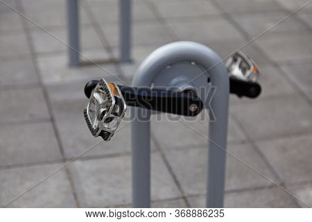Bicycle Pedals At Outdoor Gym For Adults