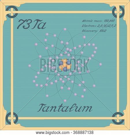 Periodic Table Element. Tantalum Colorful Icon. Vector.