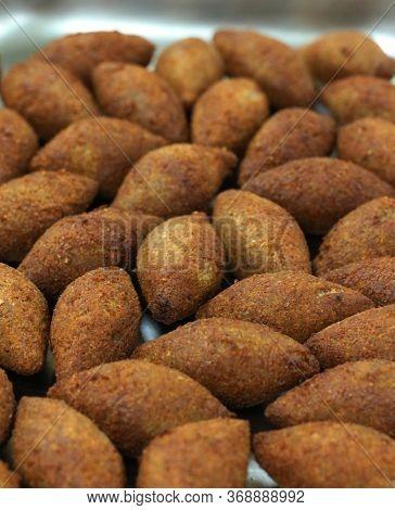 Deep Fried Kibbeh, Arabic Style Food Snack