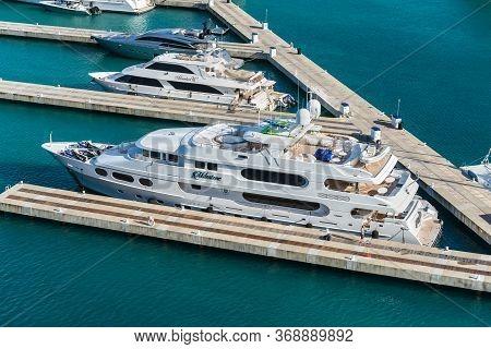 Charlotte Amalie, St. Thomas, United States V. Islands (usvi) - April 30, 2019: Luxury Motor Super Y