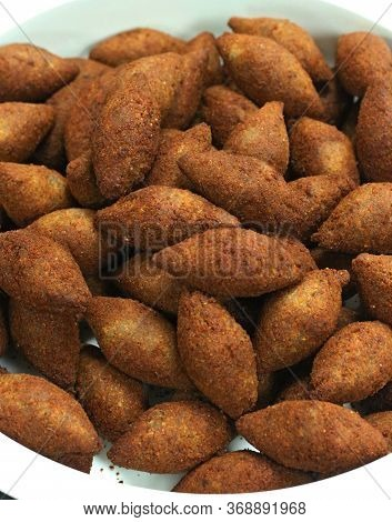 Deep Fried Kibbeh Arabic Style Snack Food