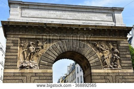 Porte Saint-martin. Paris, France. Text:louis The Great Who After The Capture Of Limburg Has Everywh