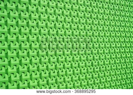 Vivid Green Diminishing Perspective Of Wall Surface Pattern For Background And Banner