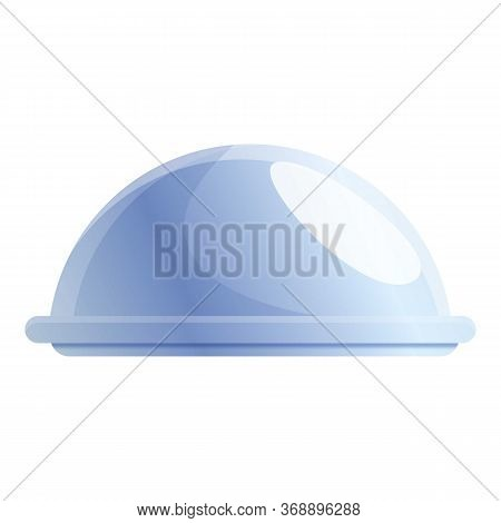 Steel Tray Icon. Cartoon Of Steel Tray Vector Icon For Web Design Isolated On White Background