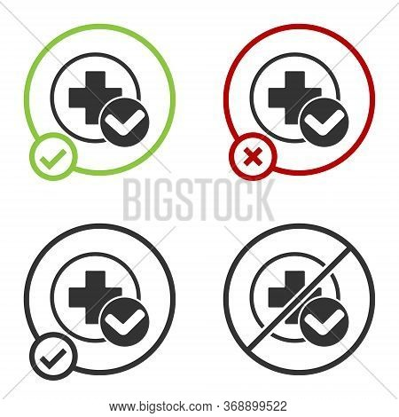 Black Cross Hospital Medical Icon Isolated On White Background. First Aid. Diagnostics Symbol. Medic