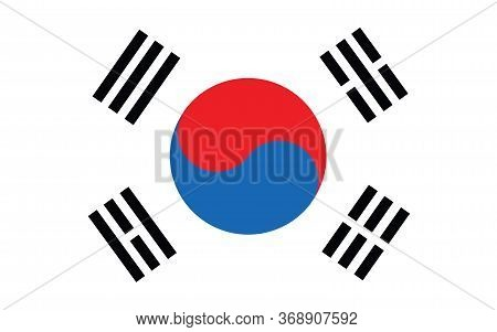 South Korea Flag Vector Graphic. Rectangle South Korean Flag Illustration. South Korea Country Flag