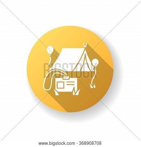 Special Event Yellow Flat Design Long Shadow Glyph Icon. Corporate Teambuilding. Campaign For Work C