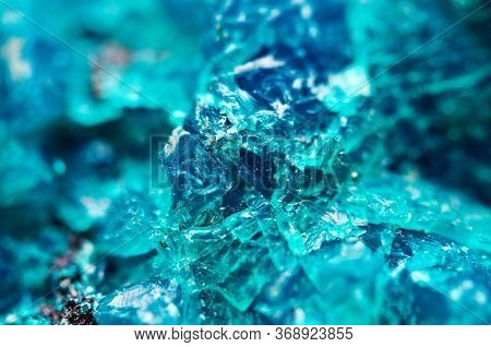 Natural Crystal. Crystal Background. Macro. Mineral Turquoise