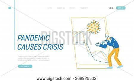 Global Economic Crisis, Trading Risks, Defaulted Economy Landing Page Template. Investor Character B