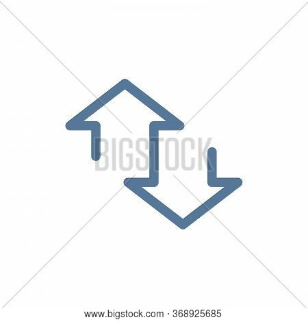 Simple Linear Up And Down Arrows. Upward, Downward Arrows. Stock Vector Illustration Isolated On Whi