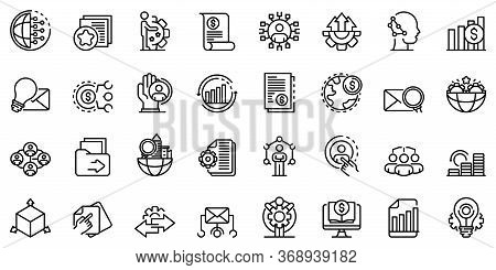 Restructuring Icons Set. Outline Set Of Restructuring Vector Icons For Web Design Isolated On White