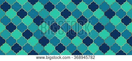 Moroccan Seamless Pattern Turkish Mosque Window Motif. Moroccan Seamless Mosaic Design. Ramadan Trad