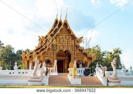 Religious Place, Beautiful Lanna Thai Temple. Temple, Ancient.
