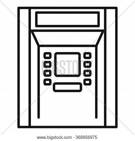 Atm Payment Icon. Outline Atm Payment Vector Icon For Web Design Isolated On White Background