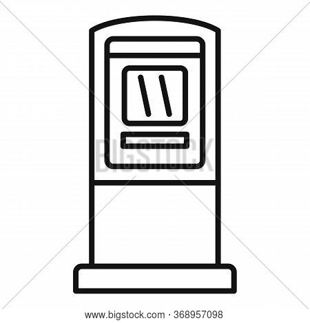 Atm Money Transfer Icon. Outline Atm Money Transfer Vector Icon For Web Design Isolated On White Bac