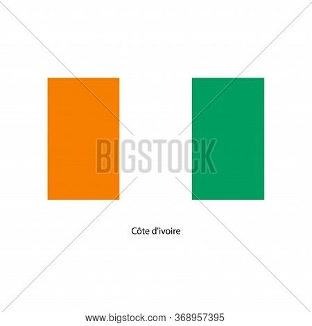 Cote Divoire Flag. Official Colors And Proportion Correctly. National Flag Of Cote Divoire.