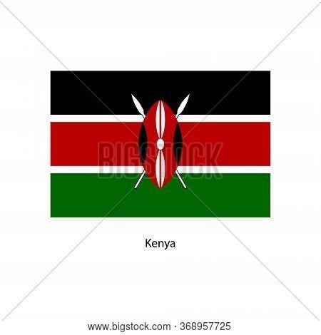 Vector Kenya Flag, Kenya Flag Illustration, Kenya Flag Picture,