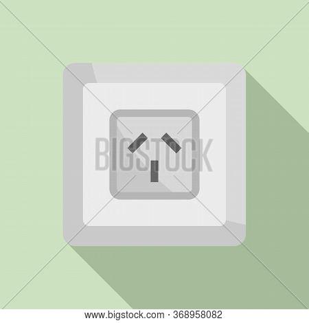 Type I Power Socket Icon. Flat Illustration Of Type I Power Socket Vector Icon For Web Design
