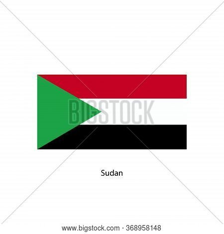 Sudan Flag, Official Colors And Proportion Correctly.