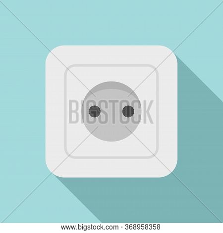 Belgium Power Socket Icon. Flat Illustration Of Belgium Power Socket Vector Icon For Web Design