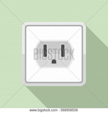 Device Power Socket Icon. Flat Illustration Of Device Power Socket Vector Icon For Web Design