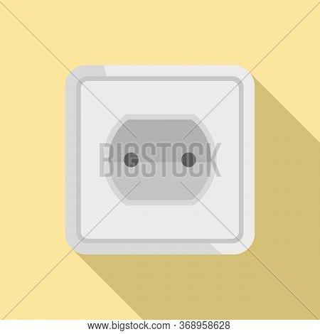 Tech Power Socket Icon. Flat Illustration Of Tech Power Socket Vector Icon For Web Design