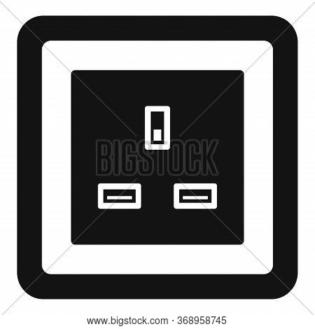 Type G Power Socket Icon. Simple Illustration Of Type G Power Socket Vector Icon For Web Design Isol