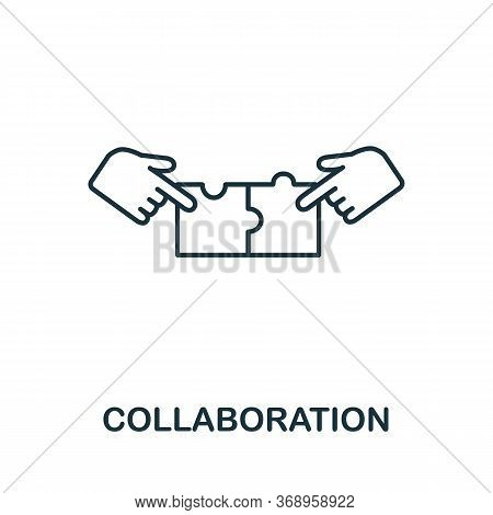 Collaboration Icon From Planing Collection. Simple Line Collaboration Icon For Templates, Web Design