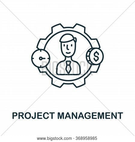 Project Management Icon From Planing Collection. Simple Line Project Management Icon For Templates,