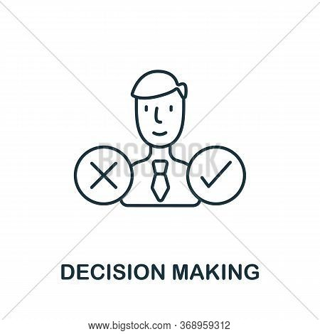 Decision Making Icon From Planing Collection. Simple Line Decision Making Icon For Templates, Web De
