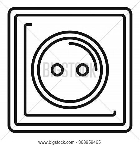 Type C Power Socket Icon. Outline Type C Power Socket Vector Icon For Web Design Isolated On White B