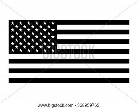 Flag Of The United States Of America. Pictogram Depicting Usa American Us Flag. The Star-spangled Ba