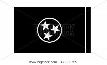 Tennessee Tn State Flag. United States Of America. Black And White Eps Vector File.