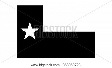Texas Tx State Flag. United States Of America. Black And White Eps Vector File.
